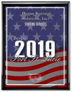 2019 Award - Best Staffing Services Port St. Lucie